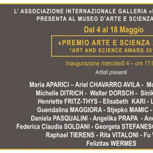 Invitation Art And Science Award 2016  Museo Darte E Scienza Di Milano