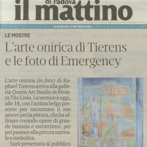 Article newspaper : ( Il Mattino di  Padova ) 13 september 2019.